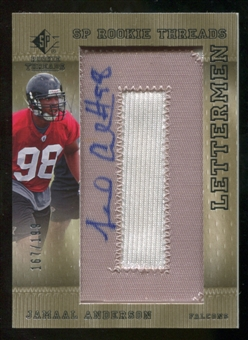 2007 Upper Deck SP Rookie Threads Rookie Lettermen Silver #120 Jamaal Anderson Autograph /199