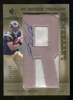 2007 Upper Deck SP Rookie Threads Rookie Lettermen Silver #125 Brian Leonard Autograph /150