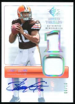 2007 Upper Deck SP Rookie Threads Rookie Threads Autographs Holofoil #RTBQ Brady Quinn Autograph 6/10