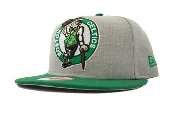 Boston Celtics New Era 9Fifty Gray Grand Logo Flat Brim Snapback Hat (Adult OSFA)