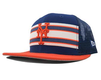 New York Mets New Era 9Fifty Blue Throwback Stripe Snapback Hat (Adult OSFA)
