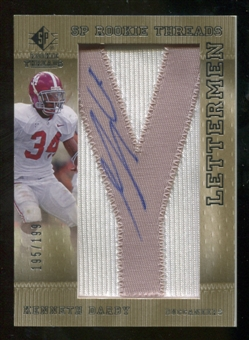 2007 Upper Deck SP Rookie Threads Rookie Lettermen Silver #130 Kenneth Darby Autograph /199