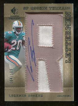 2007 Upper Deck SP Rookie Threads Rookie Lettermen Silver #133 Lorenzo Booker Autograph /199