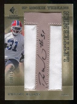 2007 Upper Deck SP Rookie Threads Rookie Lettermen Silver #128 Dwayne Wright Autograph /150