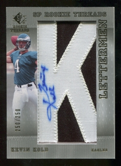2007 Upper Deck SP Rookie Threads #117 Kevin Kolb Autograph /250