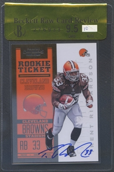 2012 Panini Contenders #203A Trent Richardson Rookie Auto BGS 9.5 Raw Card Review