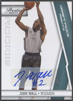 2010/11 Prestige #151 John Wall Rookie Draft Picks Rights Auto #33/99