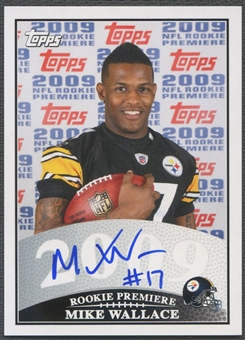 2009 Topps #MW Mike Wallace Rookie Premiere Auto