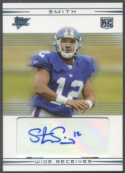 2007 Topps Performance #121 Steve Smith Rookie Auto
