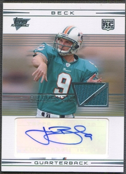 2007 Topps Performance #105 John Beck Rookie Jersey Auto