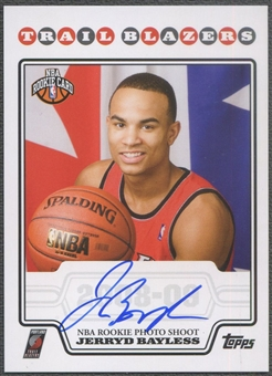 2008/09 Topps #RPJB Jerryd Bayless Rookie Photo Shoot Auto