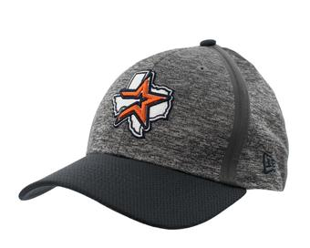 Houston Astros Royals New Era 39Thirty (3930) Gray Retro Clubhouse Flex Fit Hat (Adult L/XL)