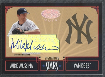 2004 Leaf Certified Cuts #36 Mike Mussina Stars Signature Auto #1/5