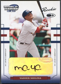 2004 Donruss World Series #199 Yadier Molina Rookie Auto #179/500