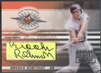 2003 Donruss Signature #5 Brooks Robinson Team Trademarks Auto #167/250