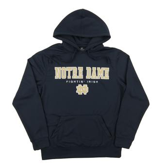Notre Dame Colosseum Navy Core Performance Fleece Hoodie (Adult Large)