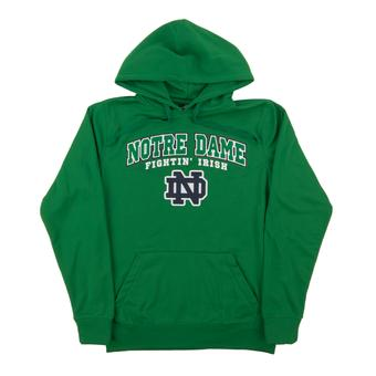Notre Dame Colosseum Green Performance Fleece Hoodie (Adult Small)