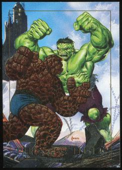 1992 Fleer Marvel Masterpieces Battle Spectra #1D Thing vs. Hulk