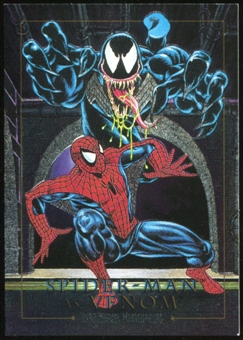 1992 Fleer Marvel Masterpieces Battle Spectra #4D Spider-Man vs. Venom