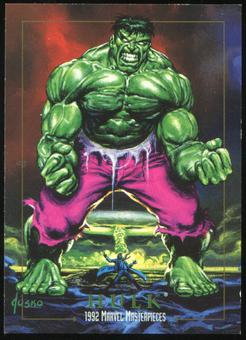 1992 Fleer Marvel Masterpieces Promos #2 Hulk (Marvel Age #11)
