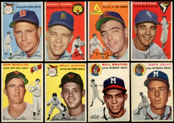 1954 Topps Baseball Starter Set (90 Different) NM
