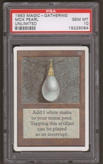 Magic the Gathering Unlimited Single Mox Pearl PSA 10