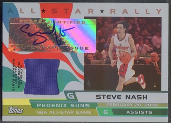 2005/06 Topps Big Game #SN Steve Nash All-Star Rally Relics Pants Auto #069/199