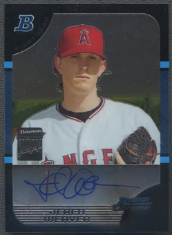 2005 Bowman Chrome Draft #167 Jered Weaver Rookie Auto