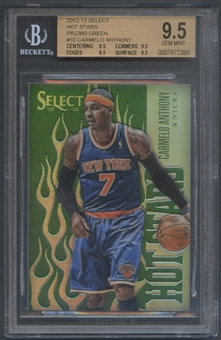 2012/13 Select #10 Carmelo Anthony Hot Stars Prizms Green #15/15 BGS 9.5