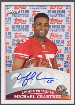 2009 Topps Rookie Premiere #MC Michael Crabtree Rookie Auto