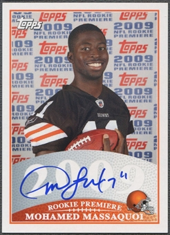 2009 Topps Rookie Premiere #MM Mohamed Massaquoi Rookie Auto
