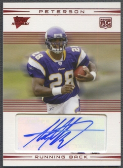 2007 Topps Performance #109A Adrian Peterson Rookie Red Auto #009/135