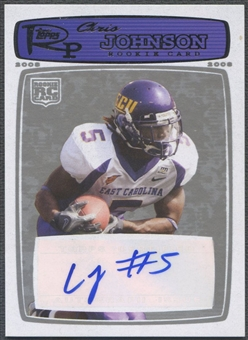 2008 Topps Rookie Progression #207 Chris Johnson Blue Silver Rookie Auto #10/20