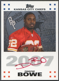 2007 Topps Rookie Premiere #DB Dwayne Bowe Red Ink Rookie Auto