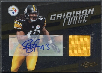 2011 Absolute Memorabilia #25 Troy Polamalu Gridiron Force Jersey Auto #02/10