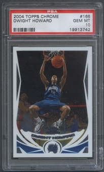 2004/05 Topps Chrome #166 Dwight Howard Rookie PSA 10