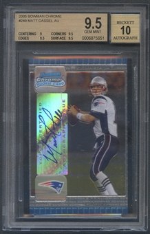 2005 Bowman Chrome #249 Matt Cassel Rookie Auto BGS 9.5