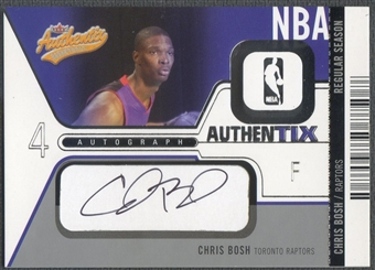 2003/04 Fleer Authentix #AACB Chris Bosh Rookie Auto #204/325