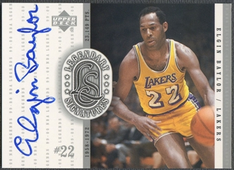 2000 Upper Deck Century Legends #EB Elgin Baylor Legendary Signatures Auto