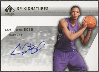 2003/04 SP Authentic #CHA Chris Bosh SP Signatures Rookie Auto