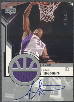 2003/04 Upper Deck #27 Amare Stoudemire UD Game Jersey Auto #026/100