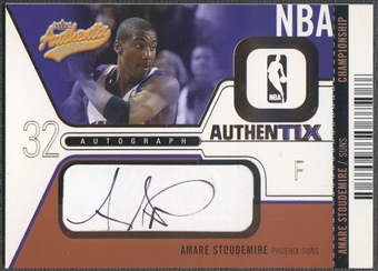2003/04 Fleer Authentix #AAAS Amare Stoudemire Playoff Auto #40/50