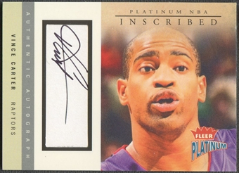 2003/04 Fleer Platinum #VC1 Vince Carter Inscribed Auto #242/280