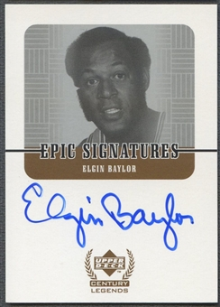 1999 Upper Deck Century Legends #EB Elgin Baylor Epic Signatures Auto