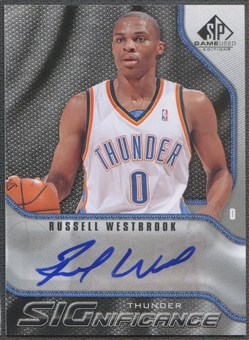2009/10 SP Game Used #SRW Russell Westbrook SIGnificance Auto