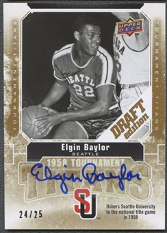 2009/10 Upper Deck Draft Edition #TTEB Elgin Baylor Tournament Titans Auto #24/25