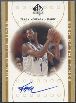 2000/01 SP Authentic #TM Tracy McGrady Sign of the Times Auto