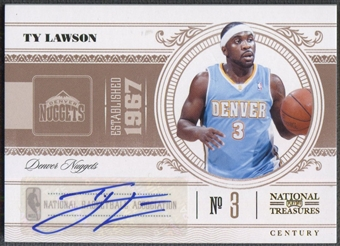 2010/11 Playoff National Treasures #25 Ty Lawson Century Signatures Auto #85/99