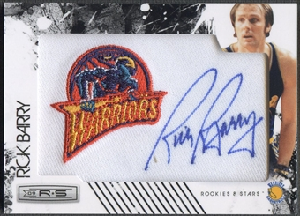 2009/10 Rookies and Stars #16 Rick Barry Retired NBA Team Patch Auto #096/199