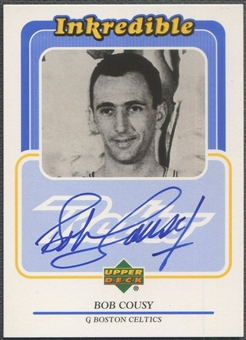1999/00 Upper Deck Retro #BC Bob Cousy Inkredible Auto